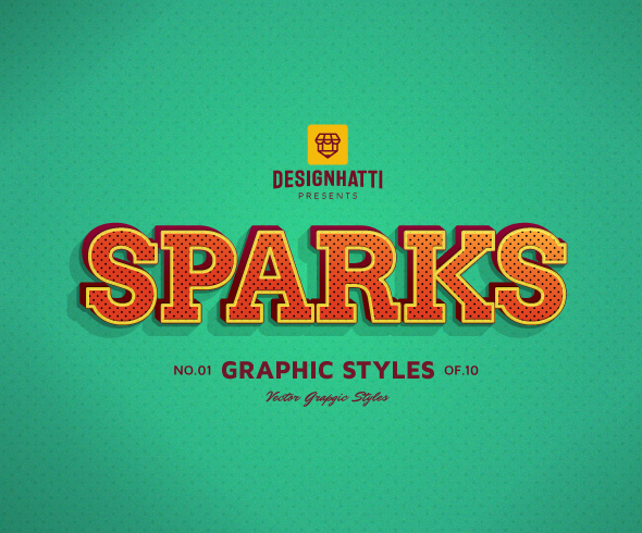Sparks graphic styles text styles vector