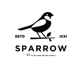 Sparrow animal design icon vector