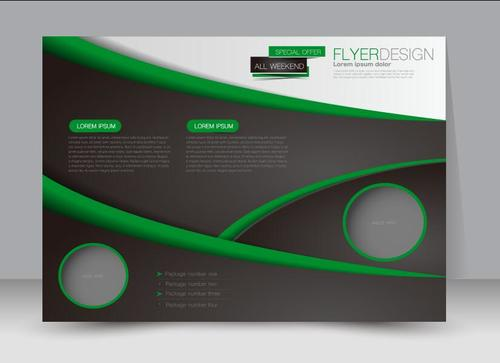 Special offer business brochure vector