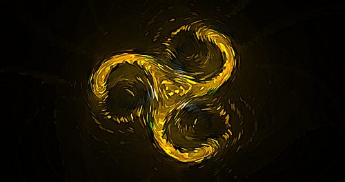 Spiral post Impressionist abstract background vector