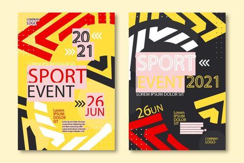 Sport event banner vector