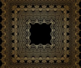 Square decorative engraved pattern vector