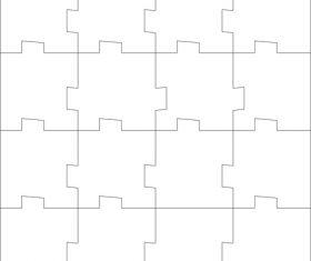 Square puzzle vector