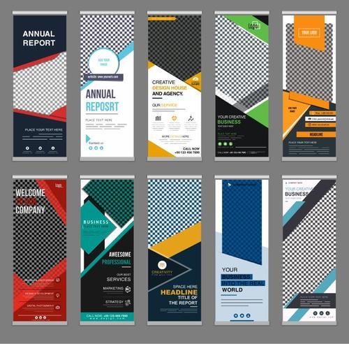 Standee business banner vector