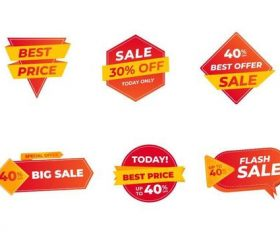 Sticker sale label vector