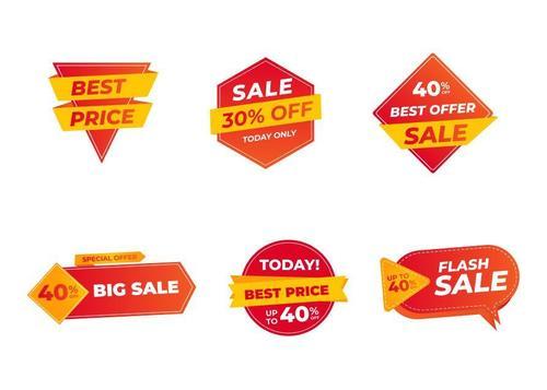 Sticker sale label vector