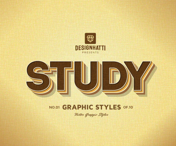 Study graphic styles text styles vector