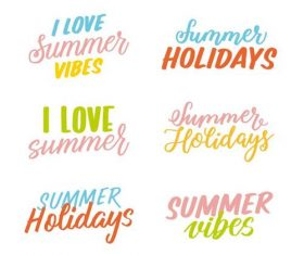Summer badge collection vector