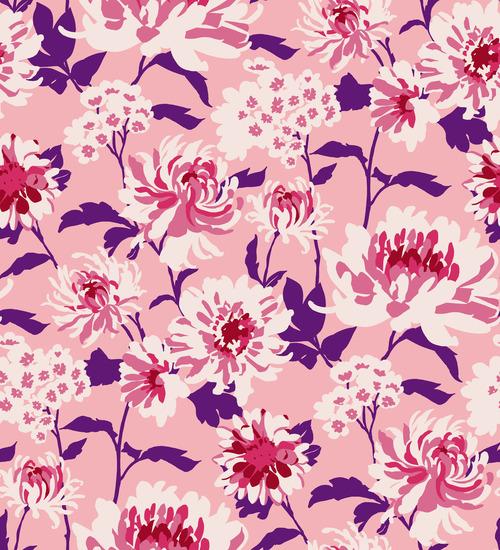 Summer floral pattern vector