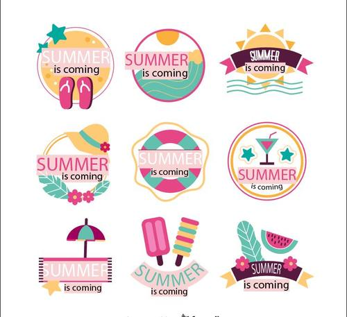 Summer is coming hand drawn vector