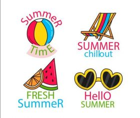Summer time hand drawn vector