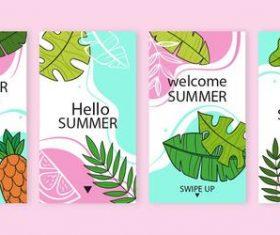 Summer time instagram stories vector