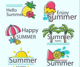 Summer travel hand drawn vector