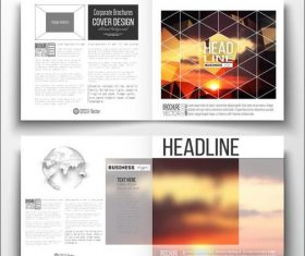 Sunrise background business brochure template vector