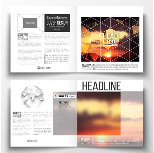Sunrise background business brochure template vector