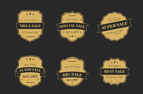 Super sale label vector