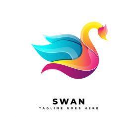 Swan gradient logo vector
