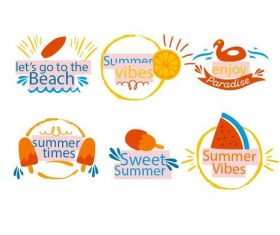 Sweet summer vector