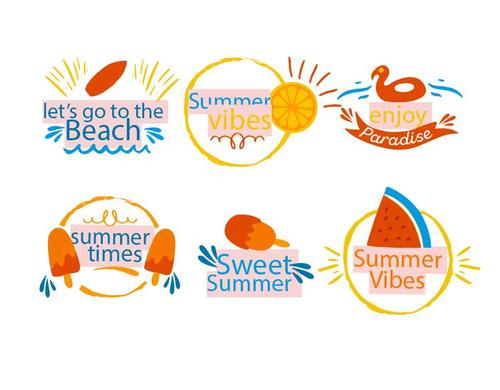 Sweet summer vector