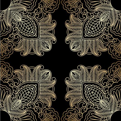 Symmetrical decorative pattern vector