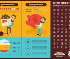Tax infographic elements vector