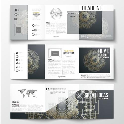 Technology background business advertising template vector