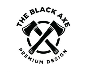 The black axe logo design vector