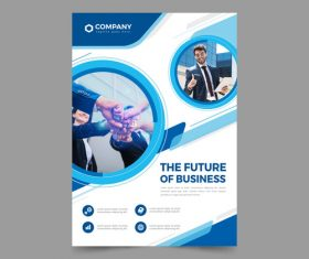 The future of business flyers vector