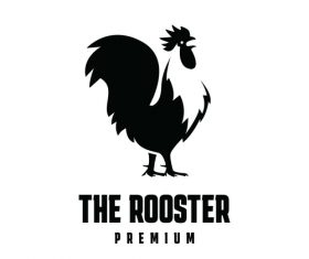The rooster business logo design vector