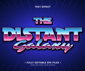 The stand font editable text style effect vector
