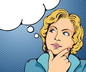 Thinking illustration vector