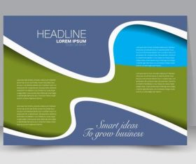 Three-color business brochure vector