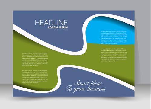 Three color business brochure vector