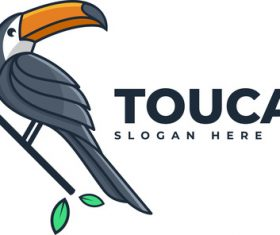 Toucan simple mascot logo vector