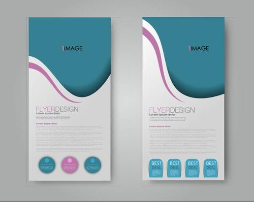 Two color simple business advertising template vector