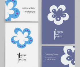 Two-color style company business card vector