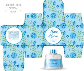 Unique perfume packaging vector
