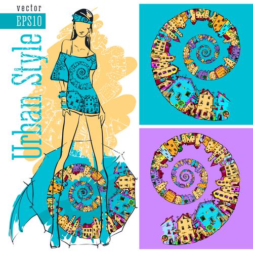 Urban fashion style illustration vector