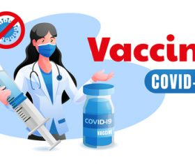 Vaccine covid-19 illustration vector