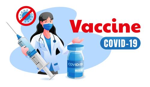 Vaccine covid 19 illustration vector