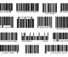 Various digital barcode set vector