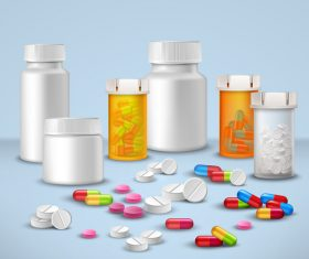 Various pills icon vector