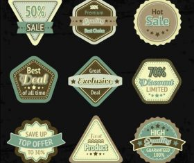 Various super sale labels vector