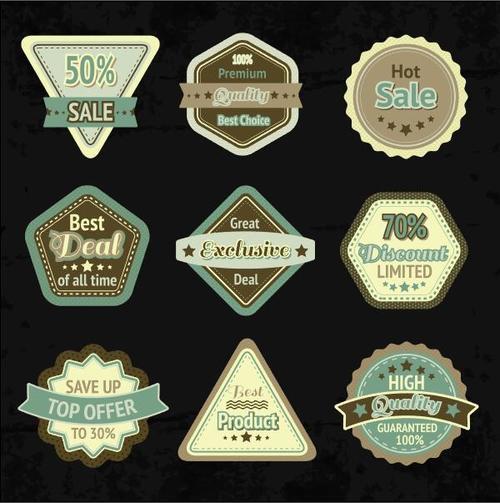 Various super sale labels vector