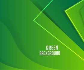 Vector corporate green banner template