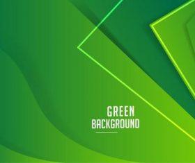Vector corporate green banner template