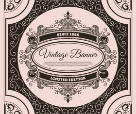 Vintage banner label vector