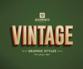 Vintage graphic styles text styles vector