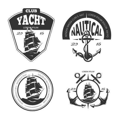 Vintage nautical vector logo