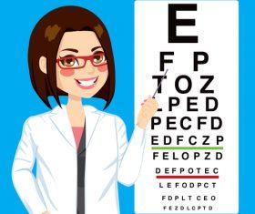Vision test cartoon illustration vector